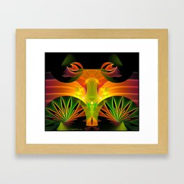 Hiding in the Brush  Framed Art Print