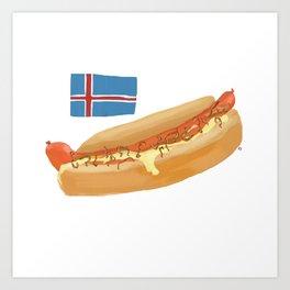 Icelandic Hotdog Art Print