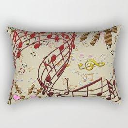 Musica y Baile Rectangular Pillow