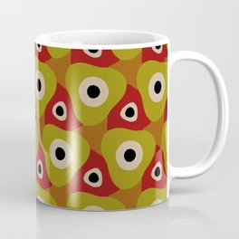 Retro Dot Circle Triangle - Abstract Geometric Design Geo 1 Coffee Mug