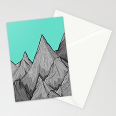 The Green Sky Over The Mountains Stationery Cards