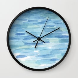 Sunset and Ocean Watercolor Wall Clock