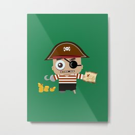 Baby Pirate Metal Print