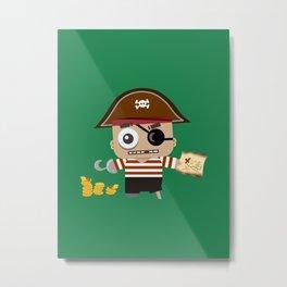 Baby Pirate Metal Print