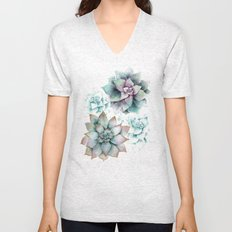 Succulents light Unisex V-Neck