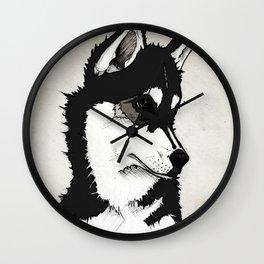 Nico the Husky Wall Clock
