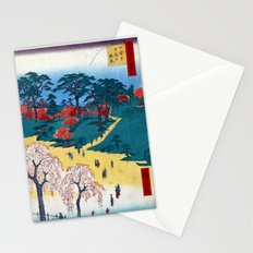 Hiroshige Temple Gardens, Nippori Stationery Cards