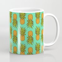 pineapples Mugs featuring Pineapples by Stephanie Keir