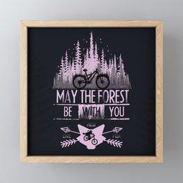 Forest Ride Framed Mini Art Print
