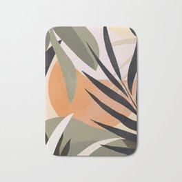 Abstract Art Tropical Leaves 2 Bath Mat