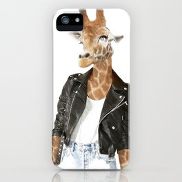 Quirky manimal iPhone Case
