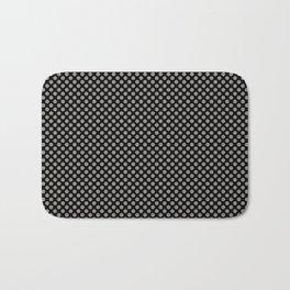 Black and Rock Ridge Polka Dots Bath Mat