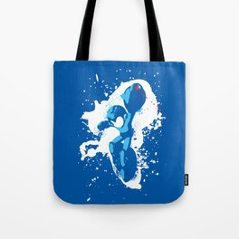 Mega Man Splattery Design Tote Bag