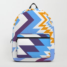 Bright blue native pattern Backpack