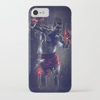 boxing iPhone & iPod Cases featuring DARK BOXING by Ptitecao
