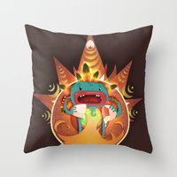fifth element Throw Pillows featuring Element by Miki  Company