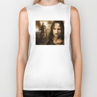 lord of the rings Biker Tanks featuring lord of the rings,the hobbit by ira gora