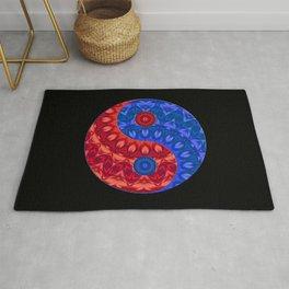 Red blue Yin a Yang Rug