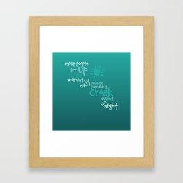 Croak-Teal Framed Art Print