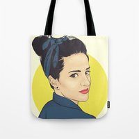 lipstick Tote Bags featuring Lipstick by FalcaoLucas