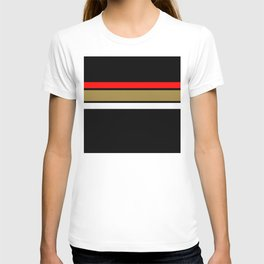 Team Colors...Red,gold,and white stripe T-shirt