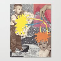 kids Canvas Prints featuring Kids by collageriittard