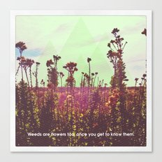 The Weeds Canvas Print