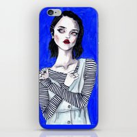 sky ferreira iPhone & iPod Skins featuring Sky ferreira / Blue period  by Lucas David