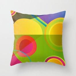 GEOMETRIC GROOVE 1 Throw Pillow