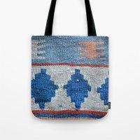 kilim Tote Bags featuring afghani kilim by sara gering