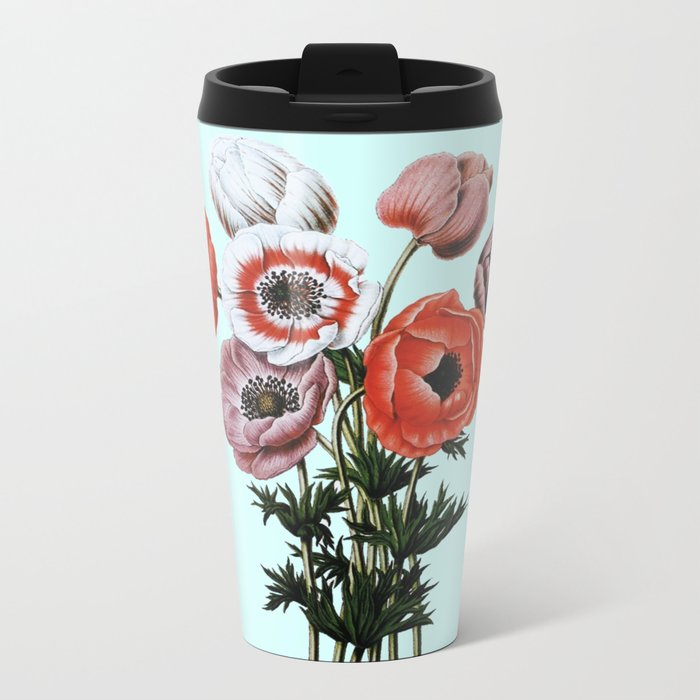 Wild poppies Metal Travel Mug