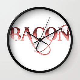 Bacon graphic Wall Clock