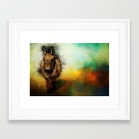 donkey Framed Art Prints featuring Donkey by Ginkelmier
