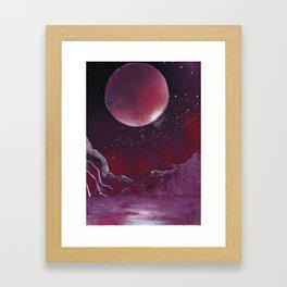 Purple Reflection Framed Art Print