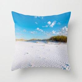 Pristine Sand Dune Throw Pillow