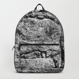 Old igneous stone wall Backpack