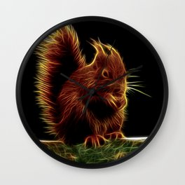 Sinister Squirrel Fractal Wall Clock