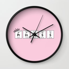 PR IN CE S S (Princess) Elements Wall Clock
