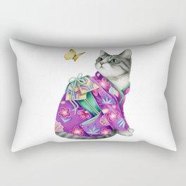 Kimono Cat 2 Rectangular Pillow