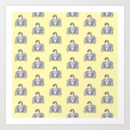 Sulky Sherlock - Yellow Art Print