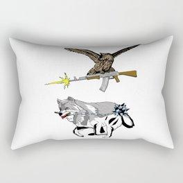 OWL WOLF ALLIANCE 3 Rectangular Pillow