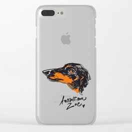 Zoe the datchshound Clear iPhone Case