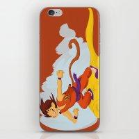 dragonball iPhone & iPod Skins featuring DragonBall: Goku and Nimbus by Michelle Rakar