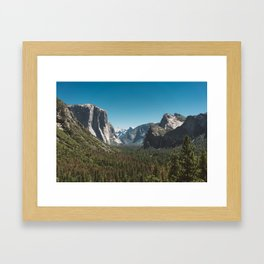 Tunnel View, Yosemite National Park V Framed Art Print