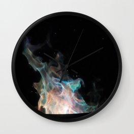Blue Flames / Wall Clock