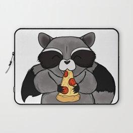 three wise raccoon pizza Laptop Sleeve