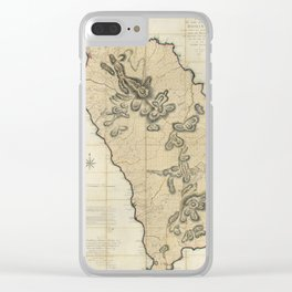 Map Of Dominica 1775 Clear iPhone Case