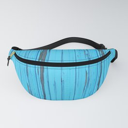 small abstract colored  blue wood pattern with fine structure Fanny Pack