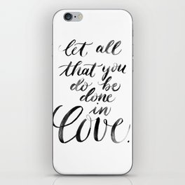 """Done in Love"" watercolor lettering iPhone Skin"