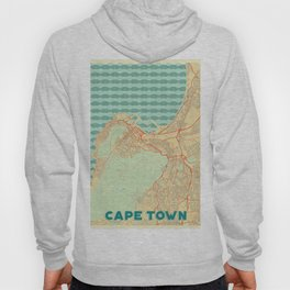 Cape Town Map Retro Hoody